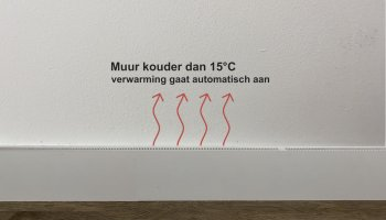 Carebrick anti condensatie systeem aan